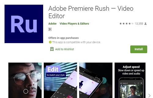 Adobe Premiere Rush apk download