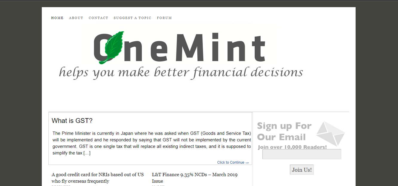 Onemint Financial Blog