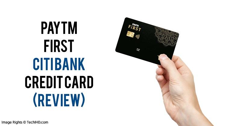 paytm first citi bank credit card