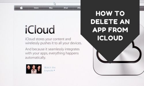 How To Delete An App From iCloud
